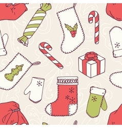 Christmas holiday decoration seamless pattern vector