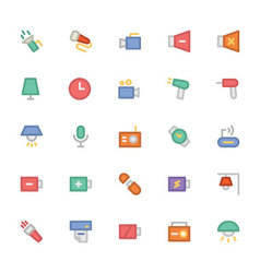 Electronics colored icons 3 vector