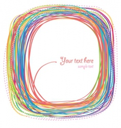 rainbow curves vector image