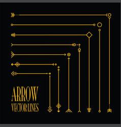 abstract arrow line set vector image