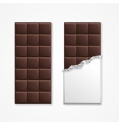 Black chocolate package bar blank vector