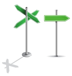blank signs pointing in opposite directions vector image