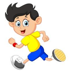 boy running vector image