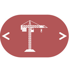 Building construction crane icon vector