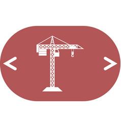 Building construction crane icon vector