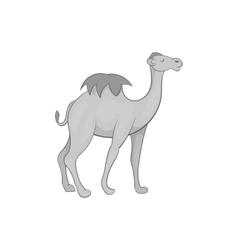 Camel icon black monochrome style vector image vector image