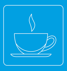 Cup of tea or coffee icon outline vector