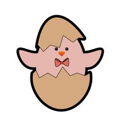 Cute chicken icon vector