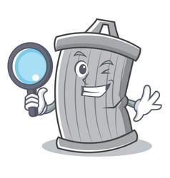 detective trash character cartoon style vector image