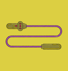flat shading style icon jump rope vector image