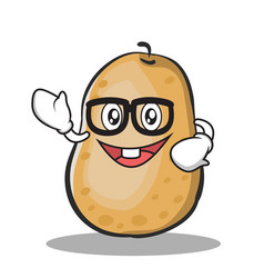 geek potato character cartoon style vector image vector image