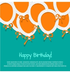 Happy Birthday Paper Balloon Background vector image vector image
