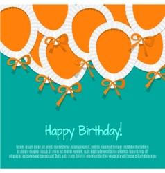 Happy birthday paper balloon background vector