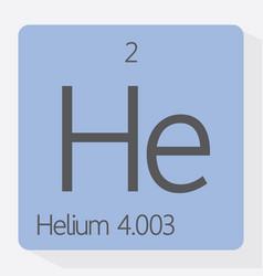helium vector image