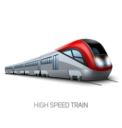High speed modern train vector