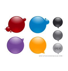 Ink buttons vector