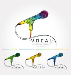Microphone logo vector