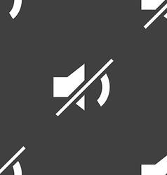 Mute speaker sign icon Sound symbol Seamless vector image