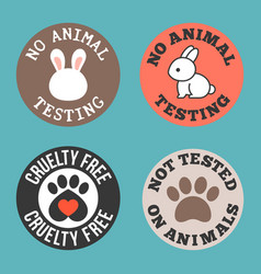 No animal testing and cruelty free vector