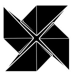 origami shuriken icon simple black style vector image vector image