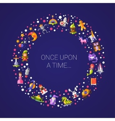 postcard with fairy tales flat vector image vector image