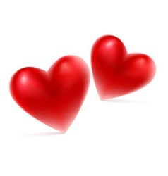 Red hearts shape vector image vector image