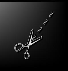 Scissors sign gray 3d vector