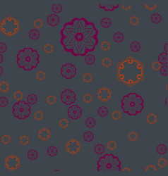 Seamless print for warping paper violet shapes on vector