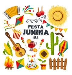 set festa junina vector image vector image