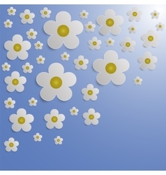 Summer Flower Paper Background vector image vector image