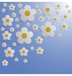 Summer flower paper background vector