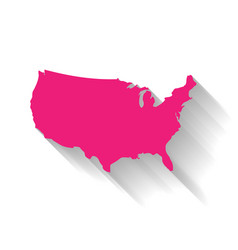 united states of america usa pink map silhouette vector image vector image