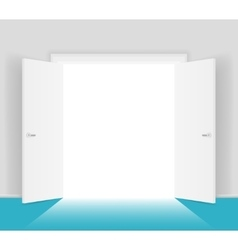 White open doors isolated vector image vector image