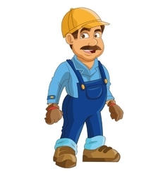 Construction or industrial worker icon vector