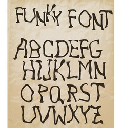 Self made funky font vector