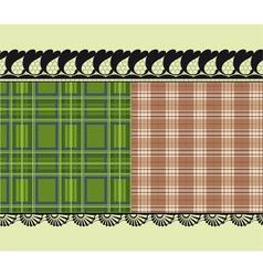 scottish fabric delicate embroidery vector image