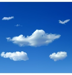 Sky background with clouds vector