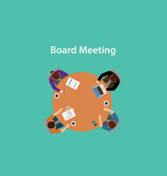 board meeting with for people meeting vector image