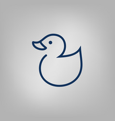 Web line icon rubber duck vector
