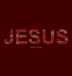 Jesus with bible words genesis to revelation vector
