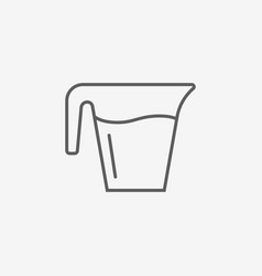 Jug glass with water vector