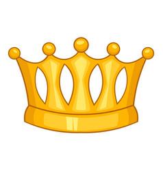 Baroness crown icon cartoon style vector