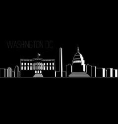 cityscape of washington dc vector image