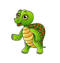 cartoon turtle isolated vector image