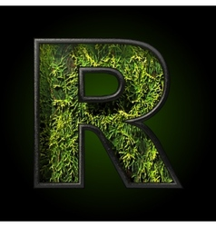 Grass cutted figure r vector