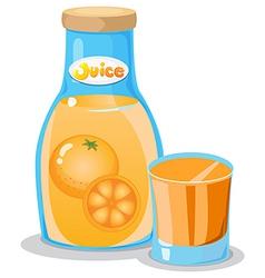 A bottle of orange juice vector image
