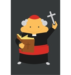 Priest with cross vector
