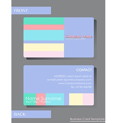 A colourful calling card vector