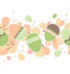 seamless horizontal Easter pattern  vector image