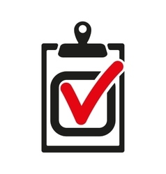 The checklist icon clipboard and executed task vector